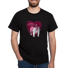 Pink Ribbon Bulldog T-Shirt