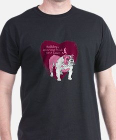 Pink Ribbon Bulldog T-Shirt