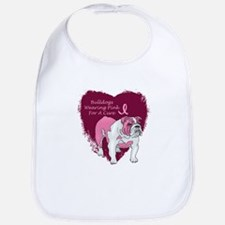 Pink Ribbon Bulldog Bib