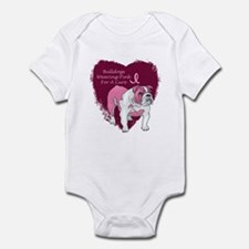 Pink Ribbon Bulldog Infant Bodysuit