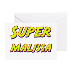 Super malissa Greeting Cards (Pk of 10)