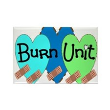 Burn Unit Nurse Rectangle Magnet
