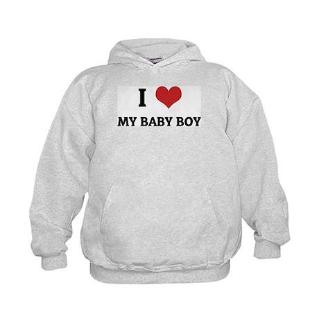 I Love My Baby Boy Kids Hoodie