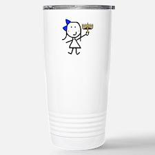 Girl & Hanukkah Travel Mug