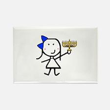 Girl & Hanukkah Rectangle Magnet