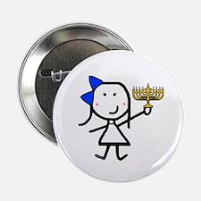 "Girl & Hanukkah 2.25"" Button (10 pack)"
