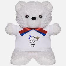 Girl & Hanukkah Teddy Bear
