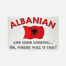 Good Lkg Albanian 2 Rectangle Magnet