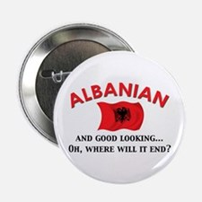 "Good Lkg Albanian 2 2.25"" Button"