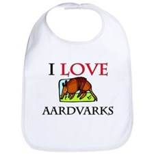I Love Aardvarks Bib