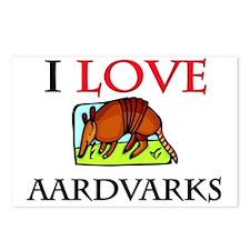 I Love Aardvarks Postcards (Package of 8)