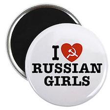 I Love Russian Girls Magnet