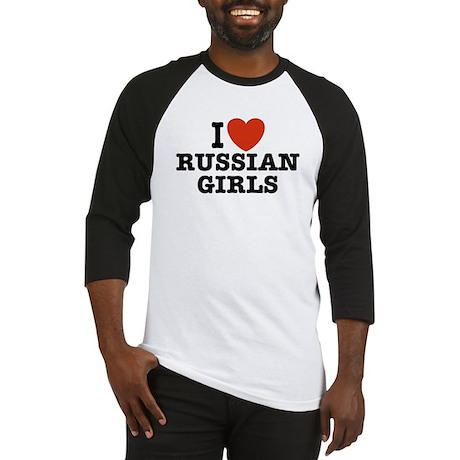 I Love Russian Girls Baseball Jersey