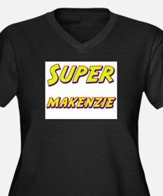 Super makenzie Women's Plus Size V-Neck Dark T-Shi