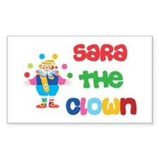 Sara - The Clown Rectangle Decal