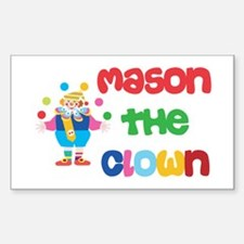 Mason - The Clown Rectangle Decal