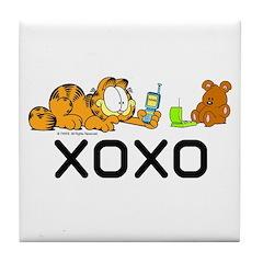 XOXO Pooky Tile Coaster