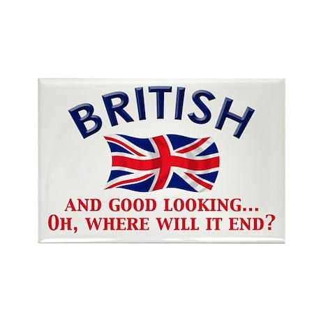 Good Lkg British 2 Rectangle Magnet
