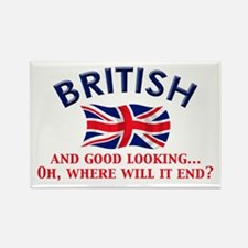 Good Lkg British 2 Rectangle Magnet (10 pack)