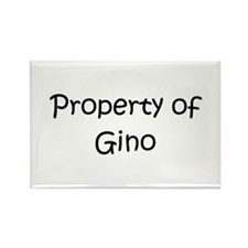 Funny Gino Rectangle Magnet (10 pack)
