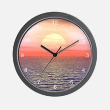 A Pacific Sunset Wall Clock