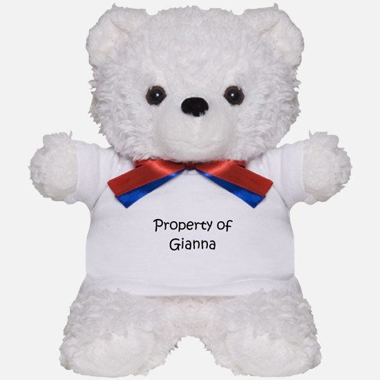 Cute Gianna Teddy Bear