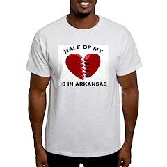 Heart In Arkansas Ash Grey T-Shirt