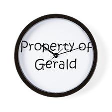 Cute Gerald name Wall Clock