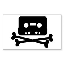 Music Jolly Roger Rectangle Decal
