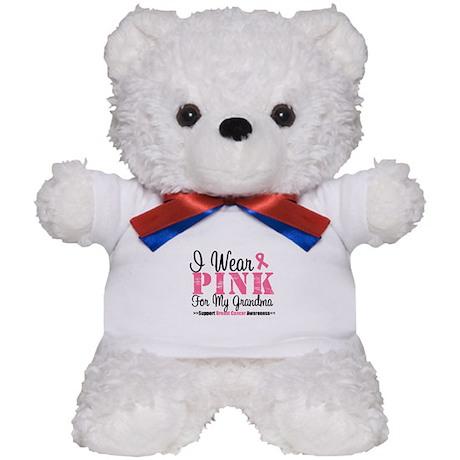 I Wear Pink For My Grandma Teddy Bear