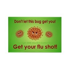 Flu Rectangle Magnet