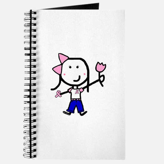 Pink Ribbon - Girl in Jeans Journal