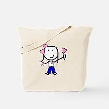 Pink Ribbon - Girl in Jeans Tote Bag