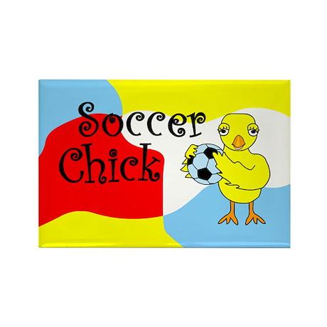 Soccer Chick Rectangle Magnet (100 pack)
