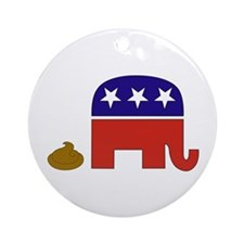 """Republicans Poop"" Ornament (Round)"