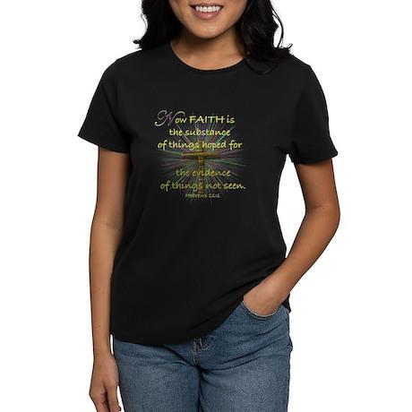 Faith (Heb. 11:1 KJV) Women's Dark T-Shirt