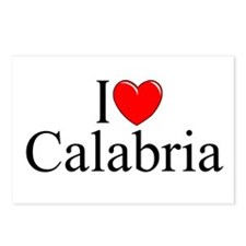 """""""I Love (Heart) Calabria"""" Postcards (Package of 8)"""
