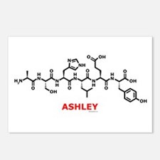 Ashley name molecule Postcards (Package of 8)