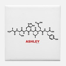 Ashley name molecule Tile Coaster