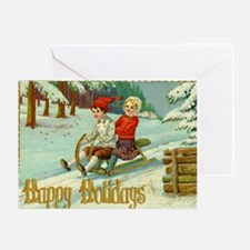 Happy Holidays Xmas Card Greeting Card