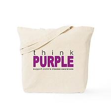 Think Purple: Crohn's Disease Tote Bag