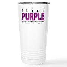 Think Purple: Crohn's Disease Travel Mug