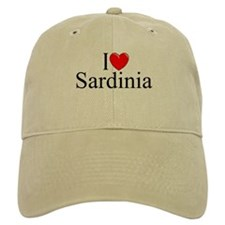 """""""I Love (Heart) Sardinia"""" Baseball Cap"""