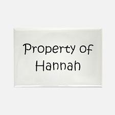 Unique Hannah name Rectangle Magnet
