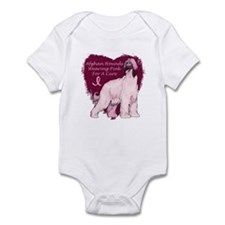 Pink Ribbon Afghan Hound Infant Bodysuit