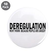 "Deregulation 3.5"" Button (10 pack)"
