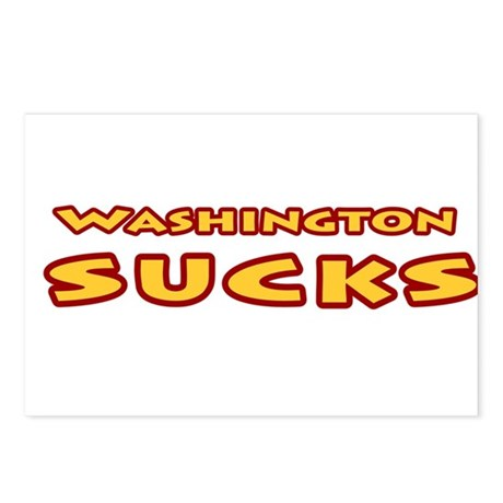 Washington Sucks Postcards (Package of 8)