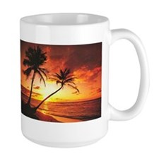 Tropical Beach Sunset Mug