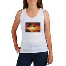 Tropical Beach Sunset Women's Tank Top