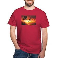 Tropical Beach Sunset T-Shirt